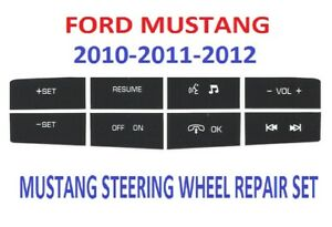2010 2012 Ford Mustang Steering Wheel Button Control Button Repair Decals