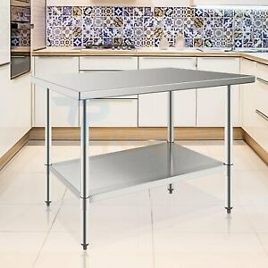 24 X 48 Stainless Steel Prep Work Table For Kitchen Food Restaurant Commercial