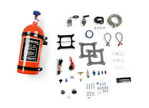 Nos Sniper Wet Nitrous Plate Kit 4150 Square Bore W 10 Lb Orange Bottle