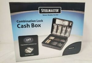 Steelmaster Cash Box With Combination Lock Charcoal 2216190g2 New