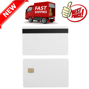 10 Pack Sle4442 Plastic Blank Chip Credit Card With Hi Co Hico Magnetic Stripe
