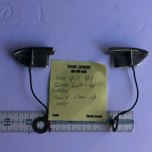 Pair 1969 1970 Ford Mustang Fastback Quarter Glass Locks Latches With Cables