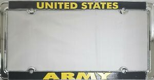 United States Army Metal License Plate Frame