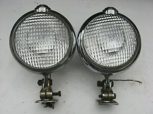1 Pair Old Vintage Unity Fire Truck Car Spot Light Lamp Base Model S6 Rat Rod