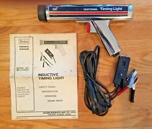 Sears Craftsman Inductive Timing Light 161 213400 W Leads Manual Vintage