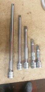 Snap On 5pc 3 8 Drive Extensions One Is Broken Free Postage