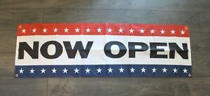 New Now Open Banner Sign 1 5 Feet X 5 Big Grand Opening Store Restaurant Flag