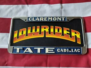 Tate Cadillac License Plate Frame Original 1955 Lowrider Hot Rod Muscle Car Part