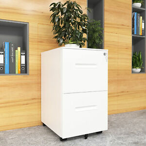 Yitahome Rolling File Cabinet Heavy Duty Mobile Storage Filing Cabinet 2 Drawers
