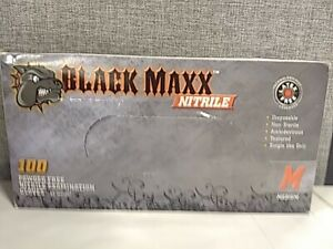 Black Maxx Nitrile Exam Gloves Medium 100 Count