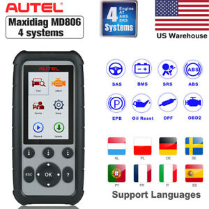 Autel Maxidiag Md806 Auto Car Diagnostic Code Reader Scanner Tool As Mk808 Mx808