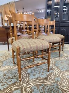 Baker Milling Road Spindle Country Cottage Farmhouse Dining Chairs Set Of 6