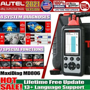 Autel Maxidiag Md806 Obd2 Code Reader Scanner Auto Car Diagnostic Tool As Md808