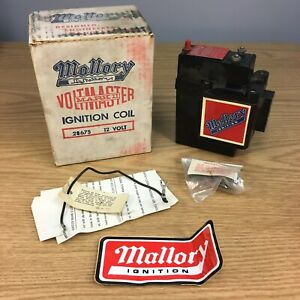 Vintage Mallory Voltmaster Mark Ii 12 Volt Ignition Coil 28675