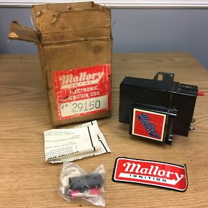 Vintage Mallory 12 Volt Electric Ignition Coil 29150