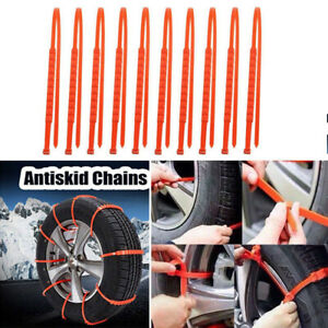 10pcs Anti Skid Chains For Automobiles Snow Mud Wheel Tyre Car Truck Tire Cable
