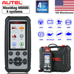 Autel Maxidiag Md806 Obd2 Engine Transmission Abs Airbag Diagnostic Code Scanner