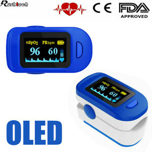 Oled Fingertip Pulse Oximeter Blood Oxygen Saturation Heart Rate Spo2 Monitor Us