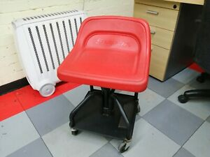 Snap On Creeper Bucket Roller Seat Stool Chair Height Adjustable On Wheels Jcw95