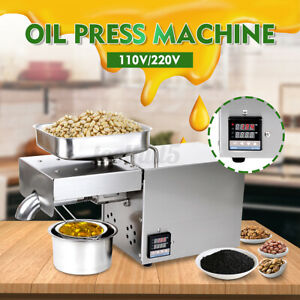 1500w Automatic Oil Press Machine Oil Extraction Extractor Expeller