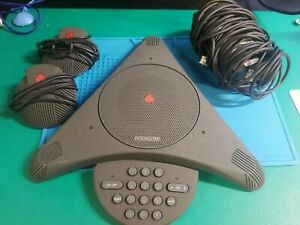 Polycom Soundstation Ex 2201 03309 001 b Conference Phone Ext Mics Pwr Supply