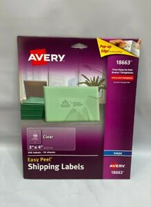 Avery Matte Clear Address Labels 2 X 4 100 Labels 18663