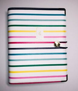 Emily Ley Planner Cover Binder Only Sheet Size 5 5 X 8 5 Happy Stripe