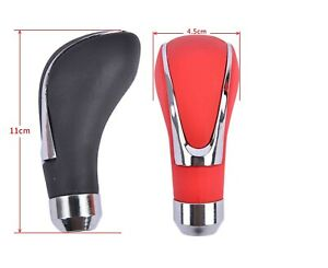 Universal Leather Manual Automatic Car Gear Stick Shift Knob Shifter Lever Cover
