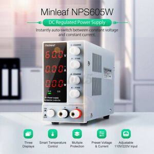 Us Minleaf Nps605w Dc Power Supply 300w 0 60v 0 5a Switch Adjustable Digital