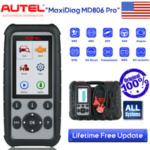 Autel Maxidiag Md806 Pro All System Auto Car Diagnostic Obd2 Code Reader Scanner