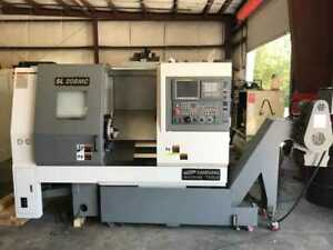 Used Samsung Sl 20bmc Live Tool Cnc Turning Center Lathe C Axis Tailstock Fanuc