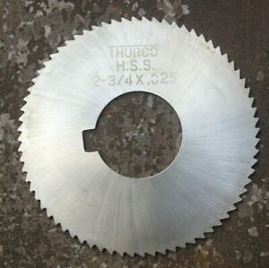 Thurco Hss Milling Cutter Slitting Saw 2 3 4 X 025 X 1