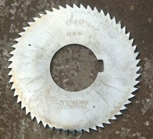 Thurco Hss Milling Cutter Slitting Saw 2 3 4 X 040 X 1