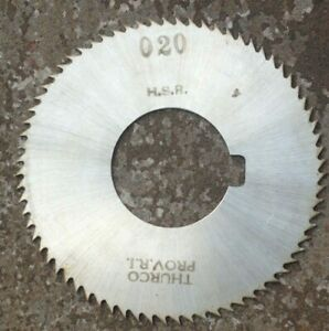 Thurco Hsr Milling Cutter Slitting Saw 2 9 16 X 020 X 1