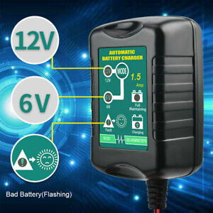 Automatic Battery Charger Motorcycle Trickle Float For Tender Maintainer 12v 1 5