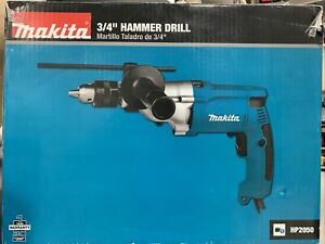 Makita 3 4 Hammer Drill W Case Model Hp2050