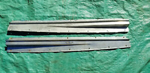 Oem 1940s 1950s Cadillac Door Sill Plate Pair 37