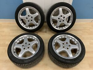 98 02 Mercedes W208 Clk430 Clk55 Amg Wheels Rim Tire Set Two Piece Staggered Oem
