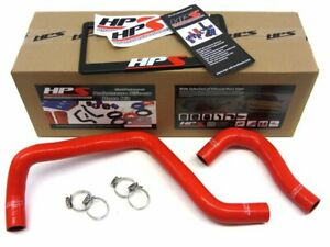 Hps Red Reinforced Silicone Radiator Hose Kit For Acura 94 01 Integra B20