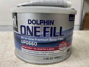 U Pol Upo660 Dolphin One Fill All In One Premium Auto Body Repair Filler 1 Quart