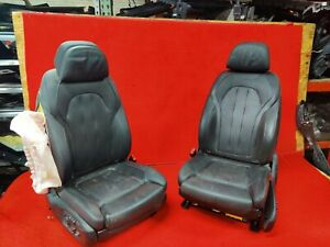 Bmw F16 X6 Sport Heated Front Right Left Leather Seat Chair Set Pair Oem