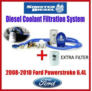Sinister Coolant Filtration System W Extra Filter For 08 10 Ford Powerstroke 6 4