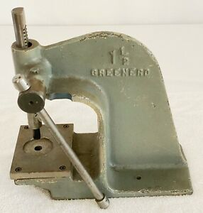 Greenerd No 1 1 2 Arbor Press 3 4 Ton Machinist Gunsmith Bench Usa