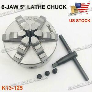 6 jaw 5 Lathe Chuck 125mm Self centering 3800rpm Metalworking Clamp Chuck