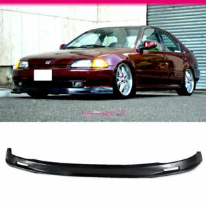 Fits 1992 1995 Honda Civic 4dr Sedan Front Bumper Lip Pp Mug Style Bodykit