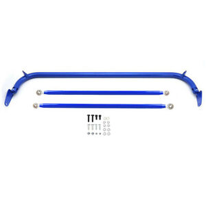 49 Stainless Steel Racing Safety Seat Belt Roll Harness Bar Rod Universal Blue