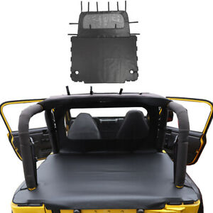 Outdoor Rear Trunk Soft Top Bikini Isolation Cover For Jeep Wrangler Tj 1997 06
