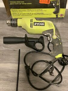 Ryobi 120v 6 2a 5 8 Corded Electric Variable Speed Hammer Drill D620h