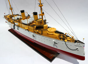 Uss Olympia Protected Cruiser Handmade Wooden Ship Model 40 Scale 1 100