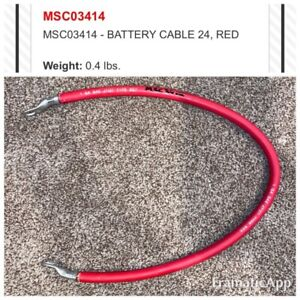 Boss Snow Plow 24 Red Positive Power Battery Cable Wire Msc03414 Msc01594